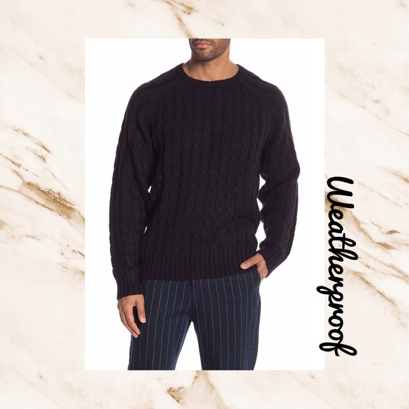 Weatherproof Other - (O) WEATHERPROOF▪️Men's Navy Cable Knit Sweater